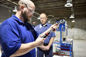 Ranken student working in a manufacturing shop.